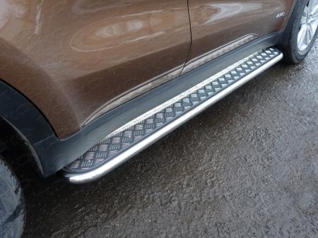 Kia Sportage 2016- Пороги с площадкой 42,4 мм